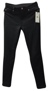 7 For All Mankind Leather Like Skinny Jeans-Coated