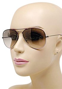 Ray-Ban Plum/Lavender Aviator Sunglasses w/Gray Ombre Lens w/Hard Case