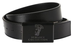 Versace VERSACE BLACK LEATHER BELT