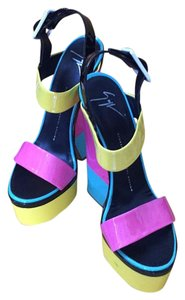 Giuseppe Zanotti Black pink yellow aqua white Platforms