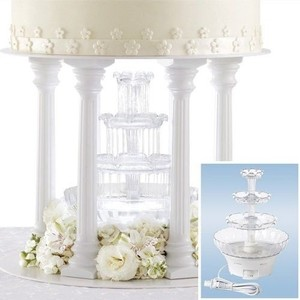 Wedding Cake Fountain Crystal Water Cascade Decoration Topper Celebration Lights (brand New)