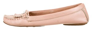 Fendi Grained Leather Selleria Blush Flats