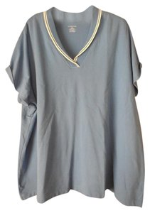Lands' End Plus-size V-neck Short Sleeves Tunic
