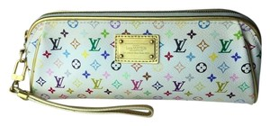 Louis Vuitton white multicolore Clutch
