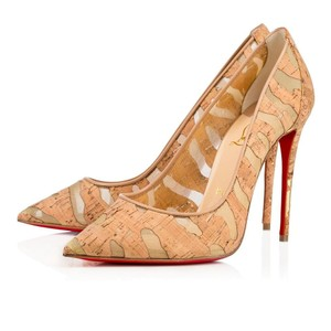 Christian Louboutin Pigalle Tan Pumps
