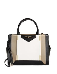 Karl Lagerfeld Satchel in Taupe Multi