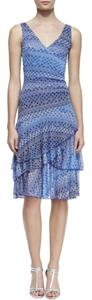 Diane von Furstenberg short dress Blue Ombre on Tradesy