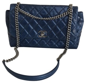 Chanel Leather Navy Cross Body Bag