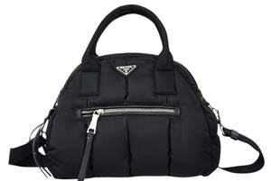Prada Nylon Bomber Bowler Shoulder Bag
