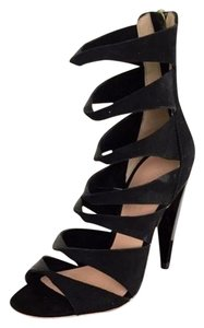 L.A.M.B. Cut-out Booties Sexy High Heels Twisted Sandals L.a.m.b. Stilettos Black Formal
