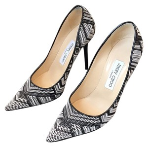 Jimmy Choo Heels Agnes Black/White Pumps