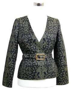 Gucci Runway Python Print Jacket Green/Black Blazer