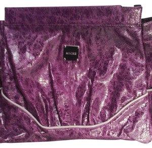 MICHE Abagail Magnetic Interchangeable Cover Satchel in purple