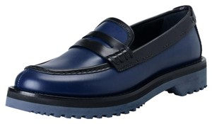 Prada Deep Blue / Black Flats