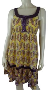 Aryeh short dress Purple, Yellow Mini Sheer Slip Sleeveless New on Tradesy