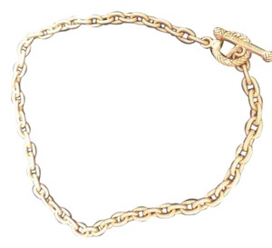 Jay Strongwater Jay Strongwater Oval Link Gold Tone Toggle Nicklace - 16