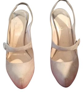 Christian Louboutin Cream Platforms