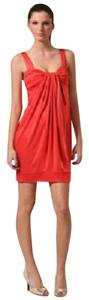Diane von Furstenberg short dress Poppy Orange Lear Sleeveless Mini on Tradesy