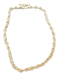 Jay Strongwater Jay Strongwater Oval Link Gold Tone Toggle Nicklace - 18