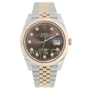 Rolex Datejust 41 Steel & Everose Gold Diamond Dial Jubilee Bracelet 126331