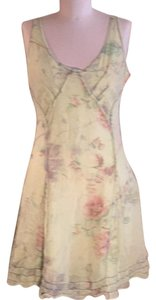 Rangoon short dress Multi cactus green, muted grey & coral floral leaf pattern. on Tradesy