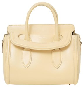 Alexander McQueen Satchel in Cream Yellow