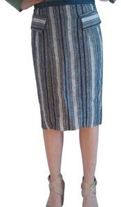 Eva Franco Metallic Striped Skirt