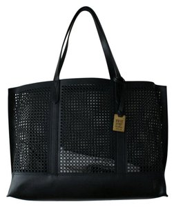 Frye Leather Perforated Tote in Black
