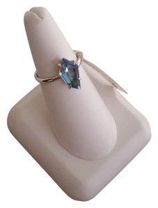 Alexis Bittar 925 Sterling Silver Blue Midnight Quartz Kite Ring