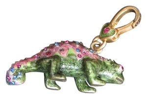 Jay Strongwater Jay Strongwater Crystals Enamel Miniature Chameleon Charm Pendant