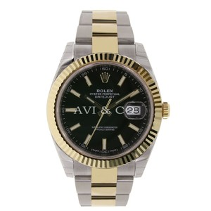 Rolex Datejust 41 Stainless Steel & Yellow Gold Black Index Dial 126333