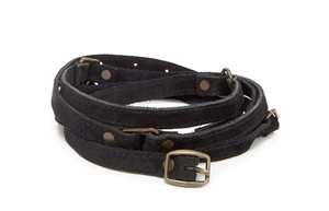 Other Vintage Black Suede Wrap Belt Small