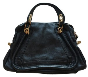 Chloé Chloe Paraty Leather Calfskin Satchel in Black