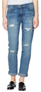 Current/Elliott Fling Boyfriend Cut Jeans-Medium Wash