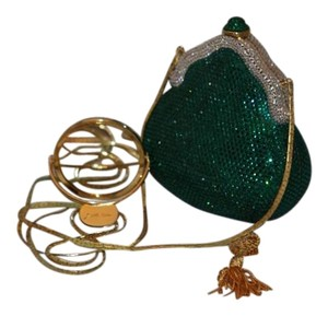 Judith Leiber Chatelaine Green/Silver/Gold Clutch