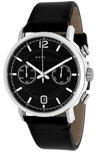 Marc by Marc Jacobs Marc Jacobs Women's Fergus Black Leather Chronograph MBM5074