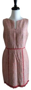 David Meister short dress Multicolor Peach Pink Sleeveless on Tradesy