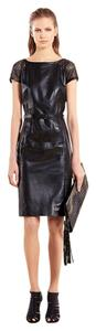 Gucci Leather Belted Dress