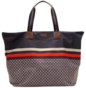 Gucci Tote in Red/Navy/Gray
