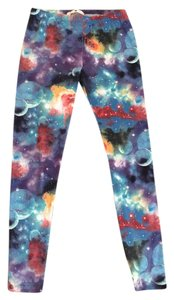 Derek Heart Derek Heart Multi-Colored Galaxy Leggings