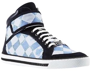 Versace Jacquard High Top Hi Top Nubuck Blue Athletic