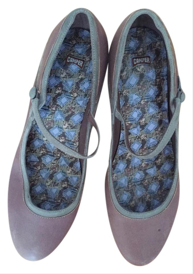 Camper Brown And Blue Shoe