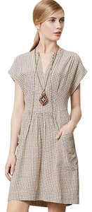 Anthropologie short dress Nude Love Print Soft Rayon Challis on Tradesy