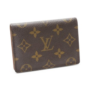 Louis Vuitton Louis Vuitton Monogram Porte 2 Cult Vertical bi-fold card case holder