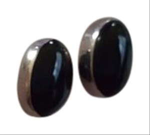Other Sterling Silver black stone earrings