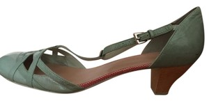 Camper Low-heel Patent Leather Turquoise Robin's Egg Blue Pumps