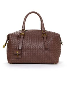 Bottega Veneta Duffle Messenger Leather Woven Messenger Bag