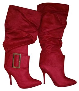 Michael Antonio Suede Brand New Red Boots