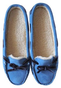 L.L.Bean Suede New Without Tags Blue Mules