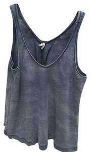 Free People Hobo Casual Thermal Top Blue Ash
